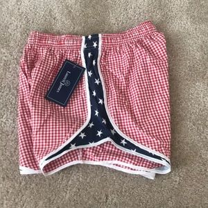 Lauren James Gingham Shorties America 4th of July